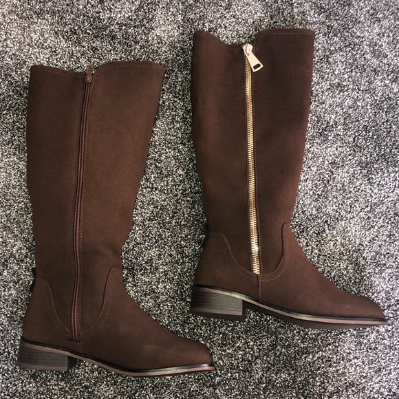 Rhapsody Brown Boots Wide Calf